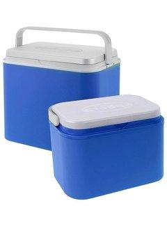 Koelboxset Blauw - 24L + 10L - Kunststof - Bestaat uit 2 stuks