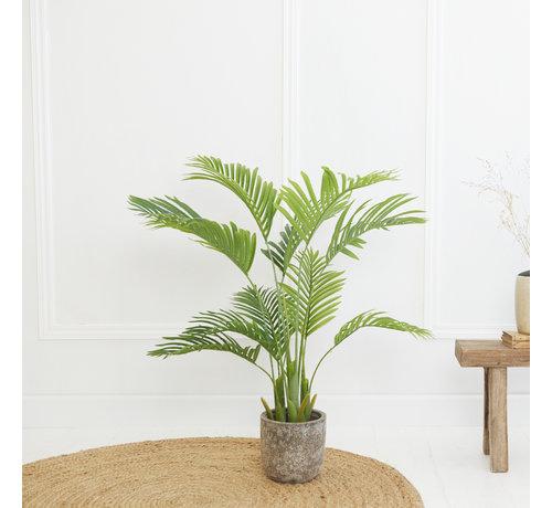 Lifa Living Kunstplant Palm Plant - Kunststof - 110 cm