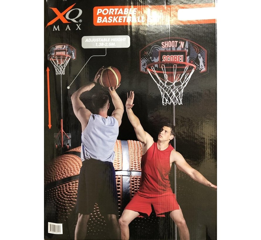 XQ Max Basketbal - Verstelbaar in Hoogte - Verrijdbaar - Inclusief inclusief basketbal en pomp