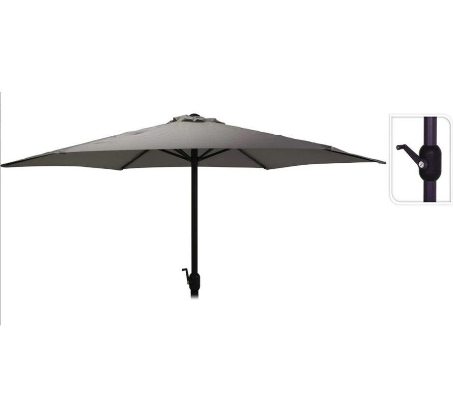 Parasol Zwart Ø300 cm voor Tuin en Terras | met handig opdraaisysteem