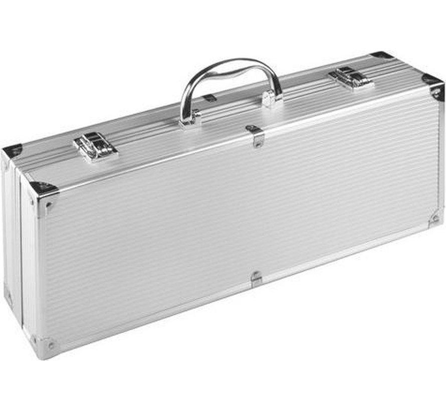 BBQ Barbecuegereedschapset - Inclusief luxe aluminium koffer - 4-delig
