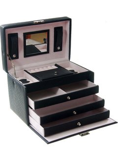 Deluxa Luxe sieradendoos met spiegel - Juwelen doos voor sieraden