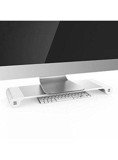 Monitor Verhoger Aluminium - Monitorstandaard met 4 USB-Poorten