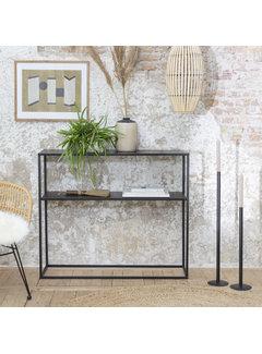 Lifa Living Modern Metalen Wandtafel Chartres - Zwart - 100 x 30 x 85 cm