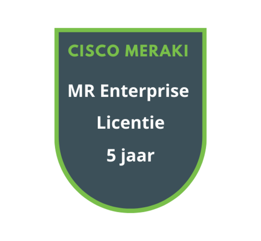 Cisco Meraki MR Enterprise Licentie 5 jaar