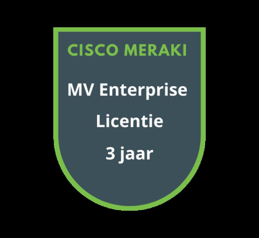 Cisco Meraki MV Enterprise Licentie 3 jaar