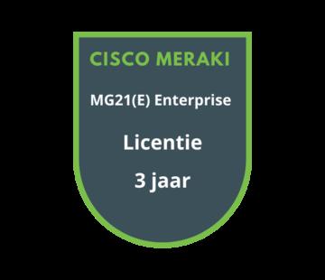 Cisco Meraki Cisco Meraki MG21(E) Enterprise Licentie 3 Jaar