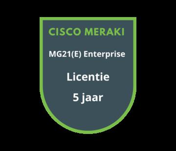 Cisco Meraki Cisco Meraki MG21(E) Enterprise Licentie 5 Jaar