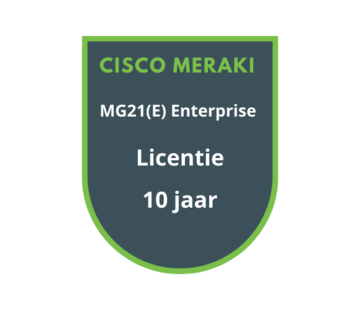 Cisco Meraki Cisco Meraki MG21(E) Enterprise Licentie 10 Jaar