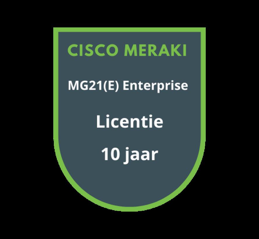 Cisco Meraki MG21(E) Enterprise Licentie 10 Jaar