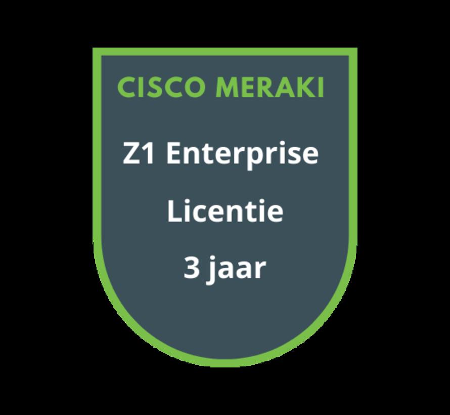 Cisco Meraki Z1 Enterprise Licentie 3 jaar