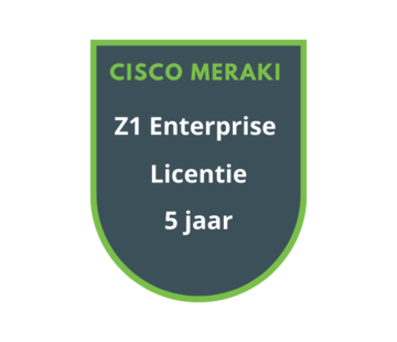 Cisco Meraki Cisco Meraki Z1 Enterprise Licentie 5 jaar