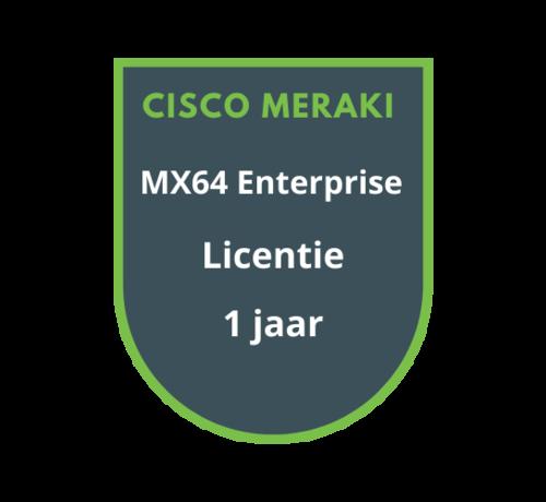 Cisco Meraki Cisco Meraki MX64 Enterprise Licentie 1 jaar