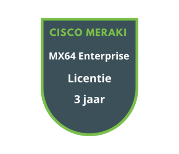Cisco Meraki Cisco Meraki MX64 Enterprise Licentie 3 jaar
