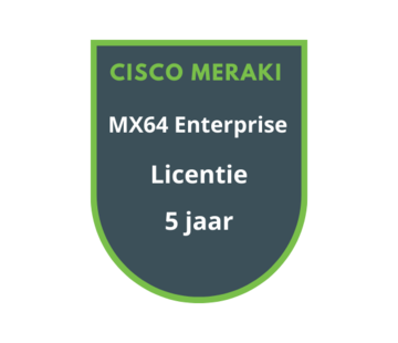 Cisco Meraki Cisco Meraki MX64 Enterprise Licentie 5 jaar