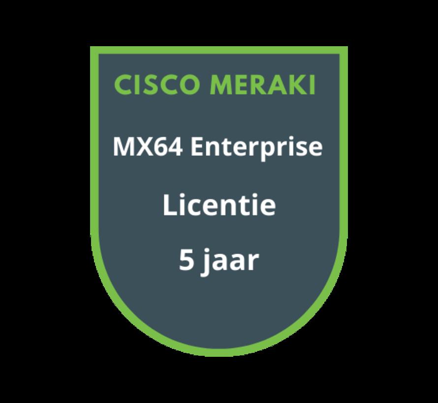 Cisco Meraki MX64 Enterprise Licentie 5 jaar