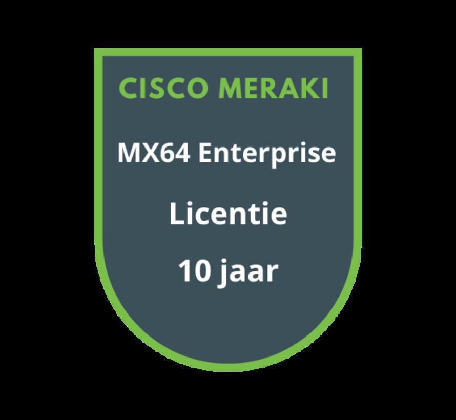 Cisco Meraki MX64 Enterprise Licentie 10 jaar