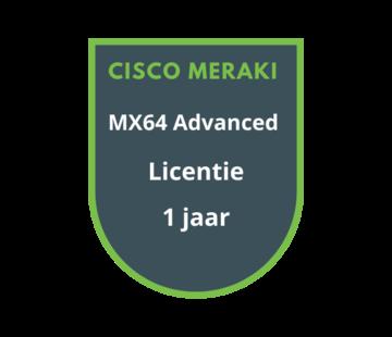 Cisco Meraki Cisco Meraki MX64 Advanced Security Licentie 1 jaar