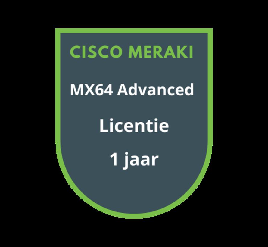 Cisco Meraki MX64 Advanced Security Licentie 1 jaar
