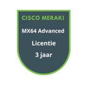 Cisco Meraki Cisco Meraki MX64 Advanced Security Licentie 3 jaar