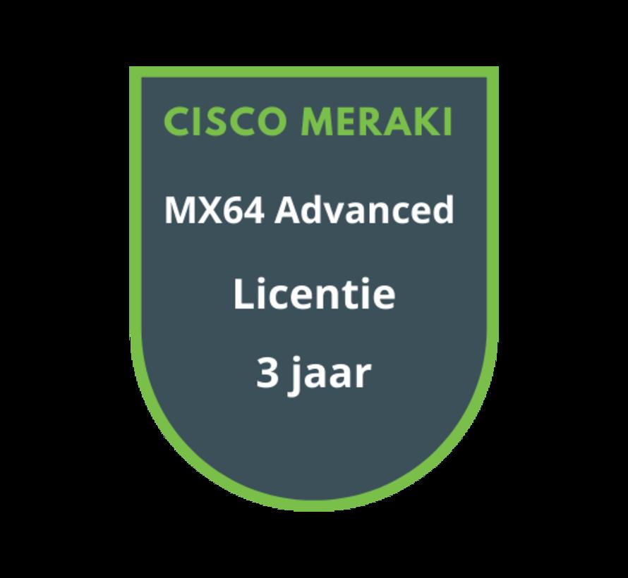 Cisco Meraki MX64 Advanced Security Licentie 3 jaar