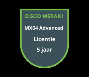 Cisco Meraki Cisco Meraki MX64 Advanced Security Licentie 5 jaar