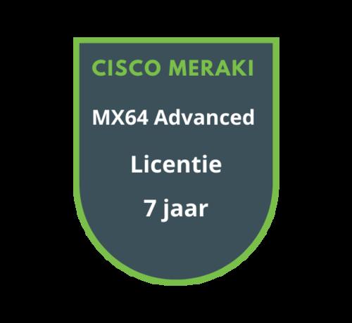 Cisco Meraki Cisco Meraki MX64 Advanced Security Licentie 7 jaar