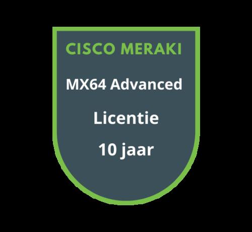 Cisco Meraki Cisco Meraki MX64 Advanced Security Licentie 10 jaar
