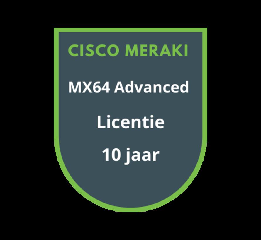 Cisco Meraki MX64 Advanced Security Licentie 10 jaar