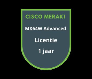 Cisco Meraki Cisco Meraki MX64W Advanced Security Licentie 1 jaar
