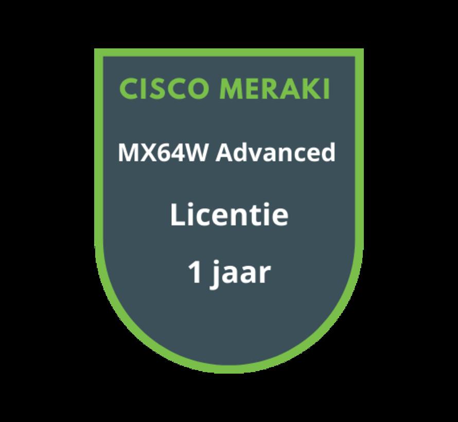 Cisco Meraki MX64W Advanced Security Licentie 1 jaar