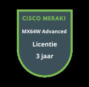 Cisco Meraki Cisco Meraki MX64W Advanced Security Licentie 3 jaar