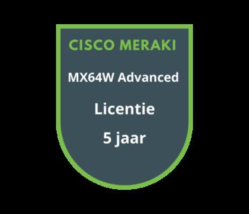 Cisco Meraki Cisco Meraki MX64W Advanced Security Licentie 5 jaar
