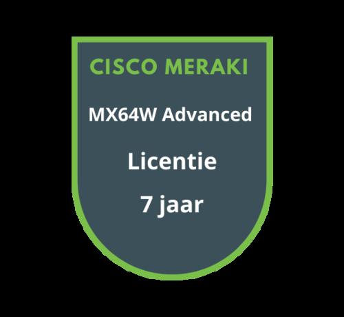 Cisco Meraki Cisco Meraki MX64W Advanced Security Licentie 7 jaar