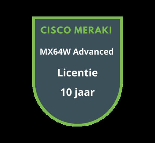 Cisco Meraki Cisco Meraki MX64W Advanced Security Licentie 10 jaar