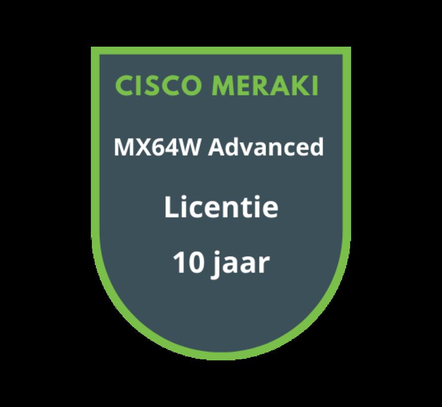 Cisco Meraki MX64W Advanced Security Licentie 10 jaar