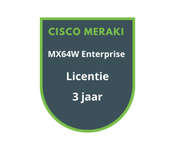 Cisco Meraki Cisco Meraki MX64W Enterprise Licentie 3 jaar