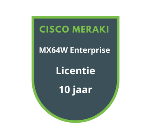 Cisco Meraki Cisco Meraki MX64W Enterprise Licentie 10 jaar