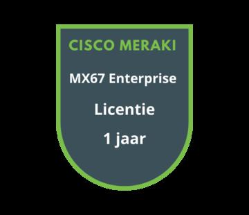 Cisco Meraki Cisco Meraki MX67 Enterprise Licentie 1 jaar