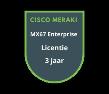 Cisco Meraki Cisco Meraki MX67 Enterprise Licentie 3 jaar