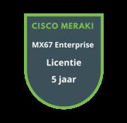 Cisco Meraki Cisco Meraki MX67 Enterprise Licentie 5 jaar