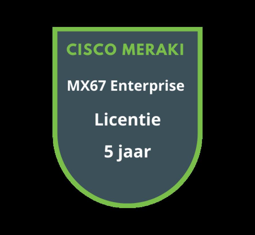 Cisco Meraki MX67 Enterprise Licentie 5 jaar