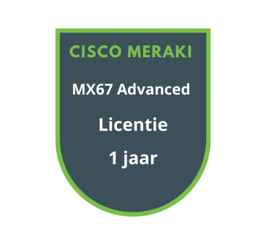 Cisco Meraki MX67 Advanced Security Licentie 1 jaar