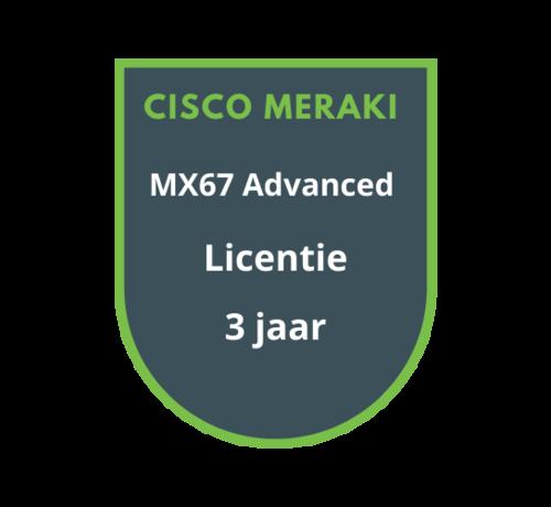 Cisco Meraki Cisco Meraki MX67 Advanced Security Licentie 3 jaar
