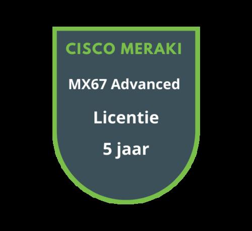 Cisco Meraki Cisco Meraki MX67 Advanced Security Licentie 5 jaar