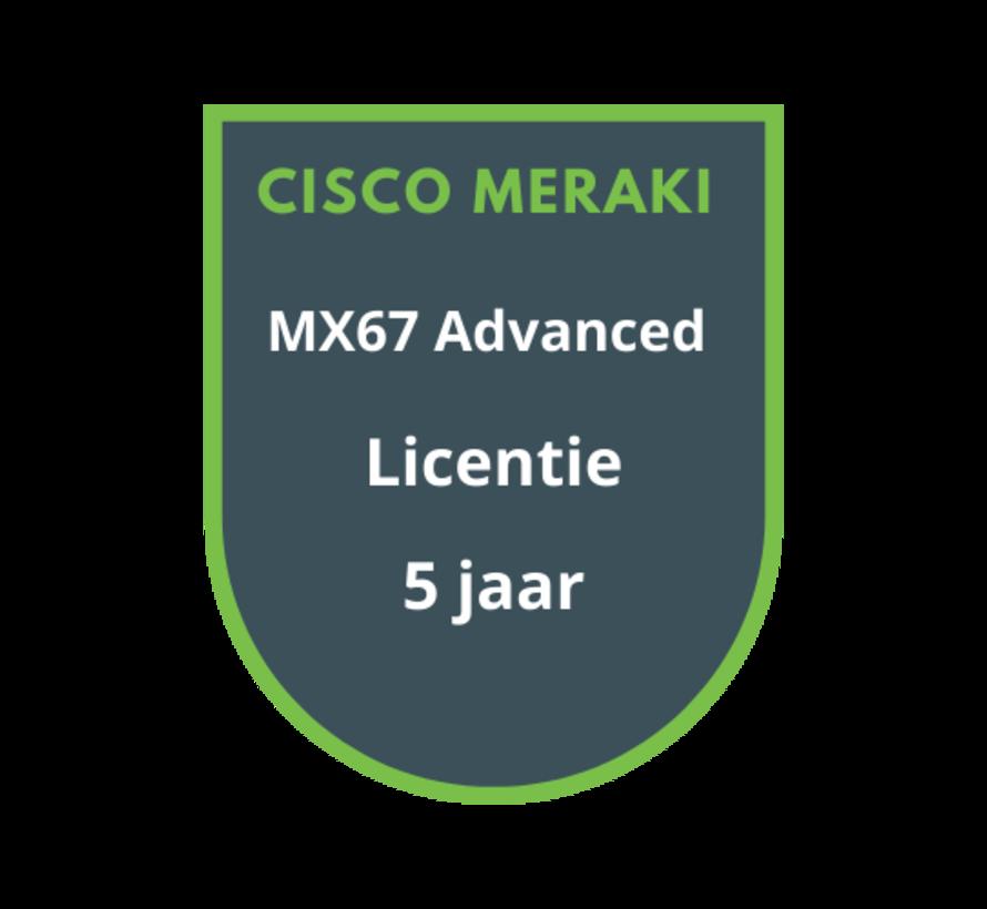 Cisco Meraki MX67 Advanced Security Licentie 5 jaar