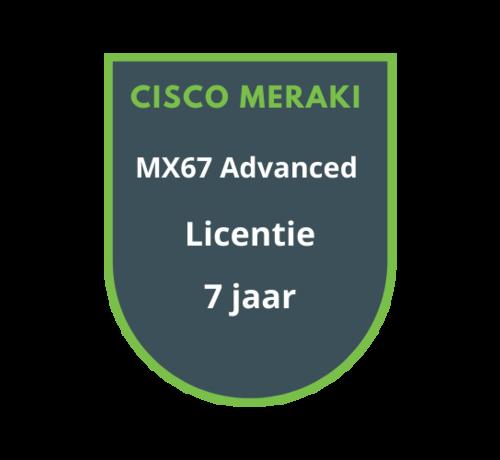 Cisco Meraki Cisco Meraki MX67 Advanced Security Licentie 7 jaar
