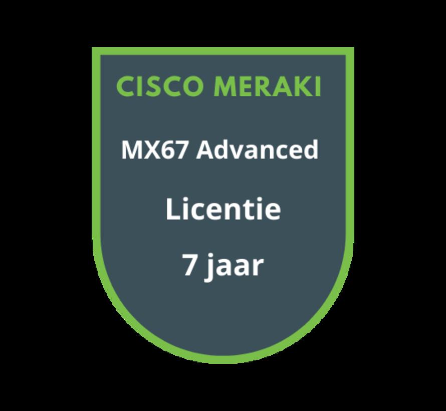 Cisco Meraki MX67 Advanced Security Licentie 7 jaar