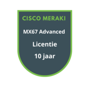 Cisco Meraki Cisco Meraki MX67 Advanced Security Licentie 10 jaar