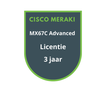 Cisco Meraki Cisco Meraki MX67C Advanced Security Licentie 3 jaar